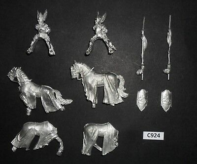 Warhammer Lord of The Rings LOTR Metal MOUNTED KNIGHTS OF DOL AMROTH X2 C 924