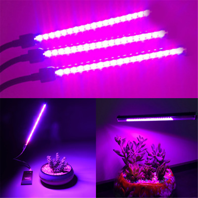 Mini USB Spectrum LED Flower Plant Grow Light For Greenhouse Hydroponic Potted H