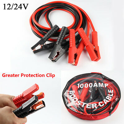 2M 1000AMP Heavy Duty Power Booster Cable Emergency Car Battery Jumper