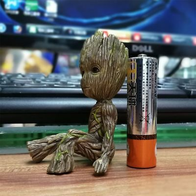 """Cute 2"""" Guardians of The Galaxy Vol. 2 Baby Sitting Groot Action Figure Toy Gift"""
