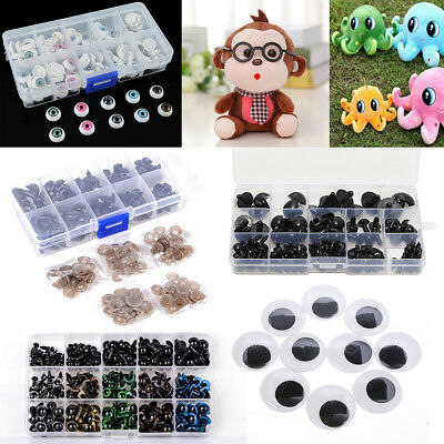 Joggle Moveable Black Eye Wiggly Google Googly Bear Eyes Nose Kids DIY Craft Art