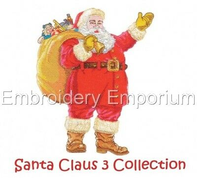Santa Claus 3 Collection - Machine Embroidery Designs On Cd