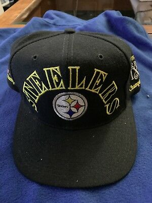 Vintage Annco 80s NFL PITTSBURGH STEELERS Snapback Hat Cap Super Bowl  Champions 77ac59d2d