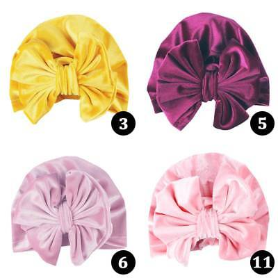Baby Girl Newborns Infant Knitted Soft Hat with Chiffon Big Bow Tie Cap Striped