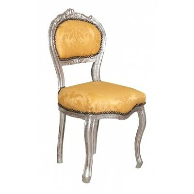Louis XVI French style  ARGENTO/ORO solid beech wood chair