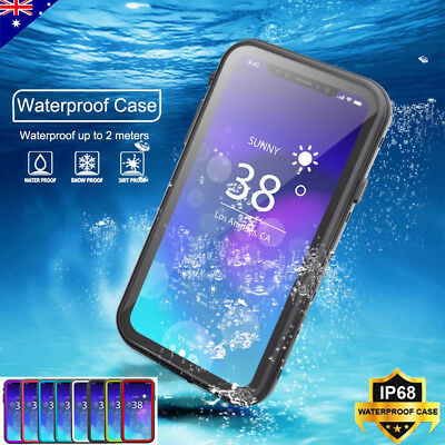 For iPhone Xs Max Xr X 360° Waterproof Shockproof Clear Tough Armor Case Cover