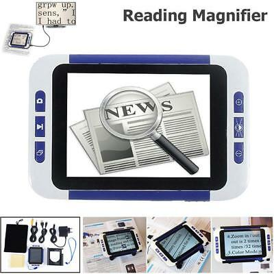 """32X 3.5"""" Portable Video Digital Magnifier Electronic Reading Aid Low Vision CO"""