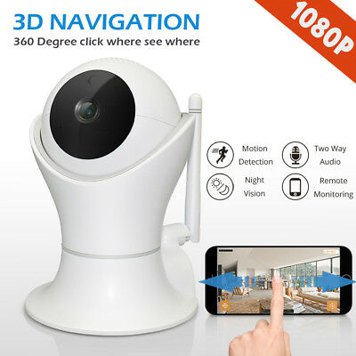 HD 1080P Wireless IP Camera Home CCTV Security System WiFi Network Night Vision