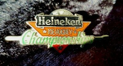 Rare vintage Heineken Ice hockey badge pin