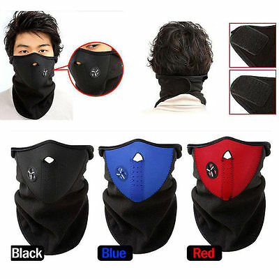 Anti-pollution Motorcycle Cycling Neoprene Anti-dust Half Face Mask For Winter