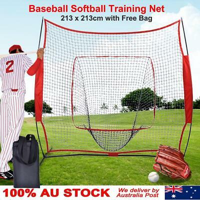 7' Portable T-ball Softball Baseball Training Practice Net Tennis Outdoor Yard