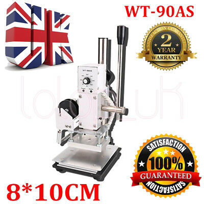 WT-90AS Hot Foil Stamping Pressure Mark Machine 8*10CM Gold PU Bronzing Embossin