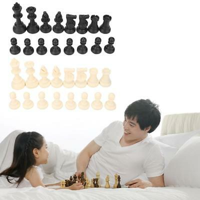 Weighted Chess Pieces Set Stauton Tournament Lint Plastic With Storage Play