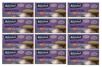 12 x Bacofoil Foil Aluminium Sheets 25 Pack Quick & Easy To Use