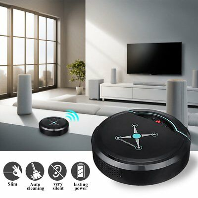 Rechargeable Automatic Smart Robot Vacuum Cleaner Edge Cleaning Suction Sweeper