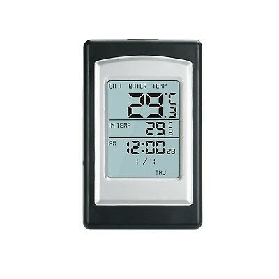 3 channel solar power wireless swimming pool floating thermometer alarm clock