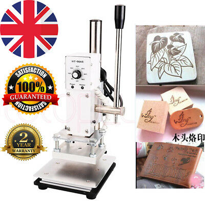 10*13cm Manual Hot Foil Stamping Machine PVC Card Leather Bronzing 220V UK Stock