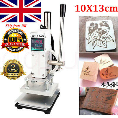 10*13CM Manual Digital Hot Foil Stamping Machine PVC Card Leather Bronzing 220V