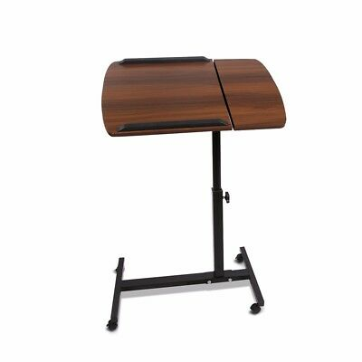 Mobile Laptop Desk Adjustable Notebook Computer iPad Stand Table Tray WALNUT@TOP