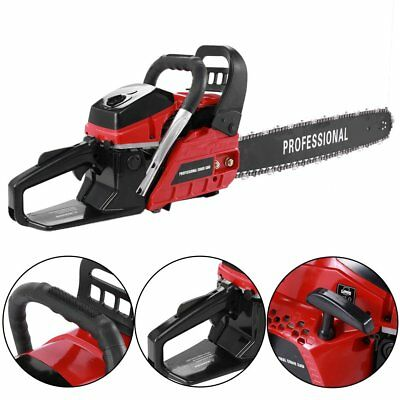 """2KW 58cc Petrol 20"""" Chainsaw 2-Stroke Engine Carry 0.325"""" Chain Wrench STE-5800"""
