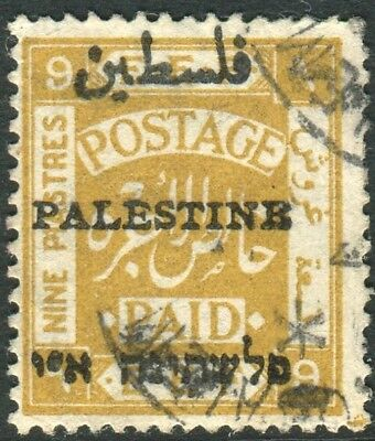 PALESTINE-1921 9p Ochre.  A fine used example Sg 55