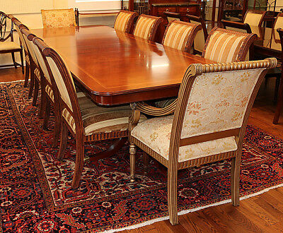 Great Flame Mahogany Italian-Made Regency Dining Table ONLY No Chairs