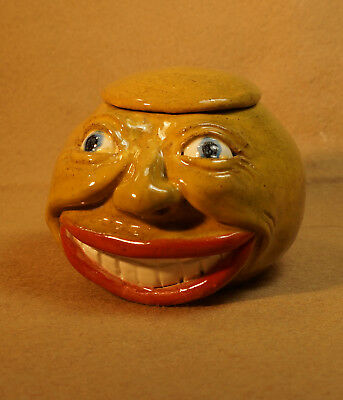 FULL HARVEST MOON-Anthropomorphic Face Jug-Spice Jar
