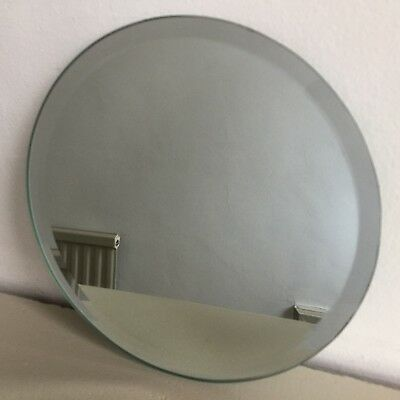 Round Vintage Style Frameless Wall Mirror Bevelled Circular Small 20cm (m53)