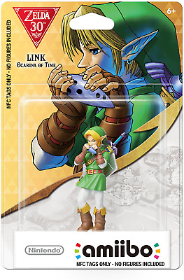 Ocarina of Time Amiibo  LINK (NOT Figurine/statue) BOTW SMASH BROS