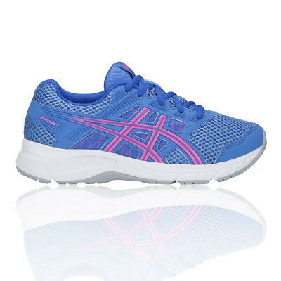 Gs Chaussures À De Bleu Baskets Sport Pied 5 Rose Fille Gel Asics Contend Course 6fY7gyb