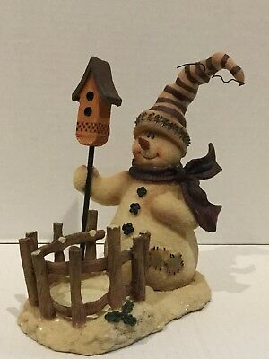 CRAZY MOUNTAIN Exclusive Designs Christmas Snowman Votive Tealight Candle Holder