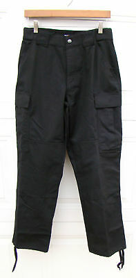 511 5.11 Tactical Series Black Cargo Pants Police Fire Small 27-31 Regular