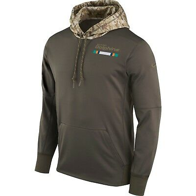Miami Dolphins 2017 Mens Salute to Service Therma-Fit Military Hoody