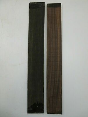 "(2) LOT OF 2, ROSEWOOD + EBONY GUITAR/ LUTHIER/  FINGERBOARD BLANK 21 x 2.95"" #3"