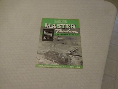 1940's CEDARAPIDS MASTER TANDEM PORTABLE CRUSHING PLANTS SALES BROCHURE