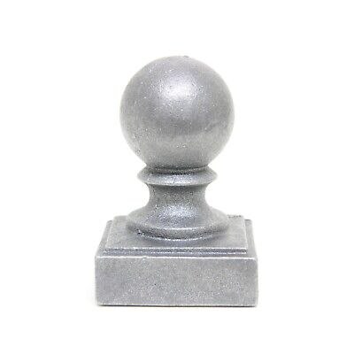 """2 x 2"""" Ball Cap Fence Finial Square Cast Iron Topper Post Caps For Posts 4 Pack"""