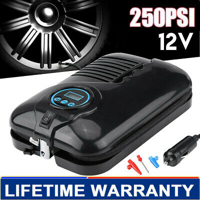 Heavy Duty 12V Electric Car Tyre Inflator 250Psi Air Compressor Pump Ukt