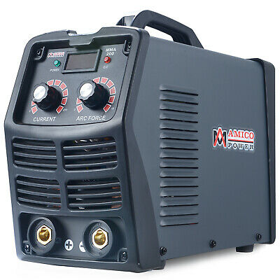 MMA-200, 200 Amp Stick Arc DC Inverter Welder, 115V & 230V Digital IGBT Welding