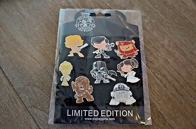 Disney Star Wars 8 Pin Set Booster Big Heads Characters - DISNEY PIN Trading