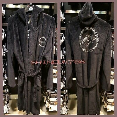 9a5d44d431 Primark mens Game of Thrones official soft fleece bathrobe dressing gown  hooded
