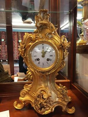 Antique Rococo Style Clock - French 19th Century Clock - Beautiful!