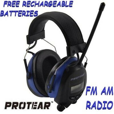 Protear Ear Defenders With FM Radio For Working Industrial NRR 25db