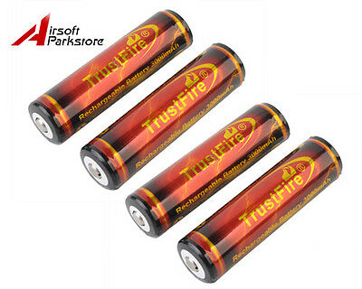 4pcs TrustFire 18650 3.7V 3000mAh Protected PCB Rechargeable Li-ion Battery Cell