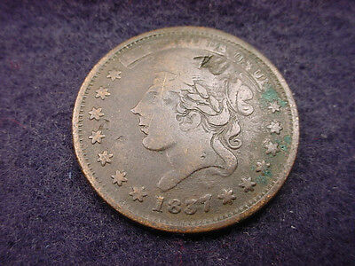 """1837 Hard Times Token """"millions For Defence Not One Cent""""  #7"""