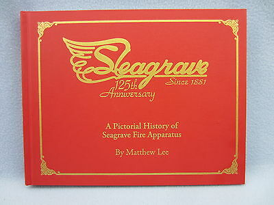 Seagrave fire engines, book,  photos, history, ladder trucks and pumpers.