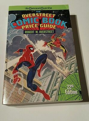 Overstreet price guide # 22 soft cover , spiderman & green goblin cover