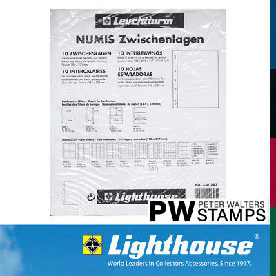 Lighthouse NUMIS White Interleaves Pack of 10