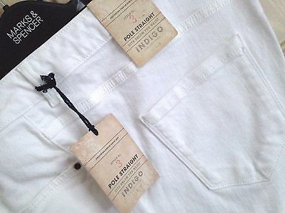 LADIES M/&S INDIGO COLLECTION SIZE 20 MED POLE STRAIGHT STRETCH JEANS FREE POST