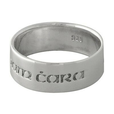 """Brand New 925 Sterling Silver Anam Cara Celtic """"Soul Friend"""" Band Ring - size 9"""