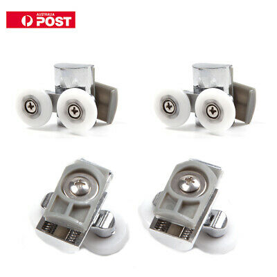 4 x 23mm Heavy Duty Twin Zinc Alloy Shower Door Rollers Runners Wheels